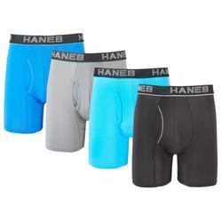 Mens 4-pk. Ultimate Lightweight Flex Fit Boxer Briefs