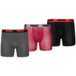 Puma Mens 3-pk. Stripe Print Boxer Briefs