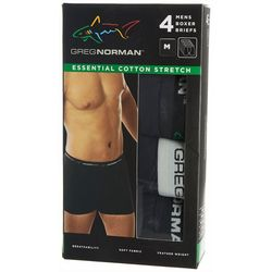 Greg Norman Collection Mens 4-pk. Stretch Boxer Briefs