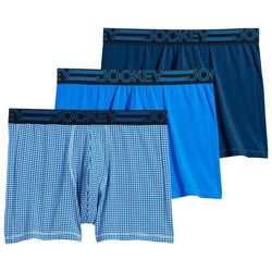 Jockey Mens 3-pk. Active Microfiber Multi Boxer Briefs
