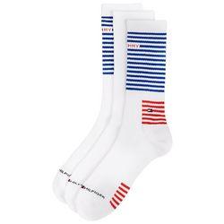 Tommy Hilfiger Mens 3-pk. Flag Stripes Crew Socks