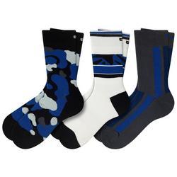 Mens 3-pk. Fish Tank Top Camo Socks