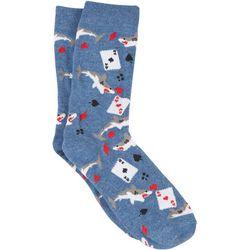 MMG Corp Mens Card Shark Socks