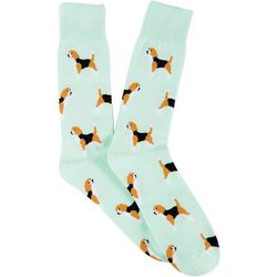 Frenchy & Friends Mens Beagle Crew Socks