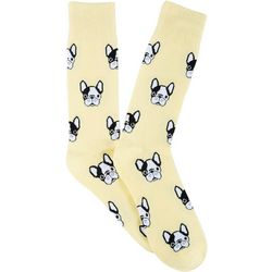 Frenchy & Friends Mens French Bulldog Crew Socks