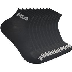 Fila Mens 10-pk. Solid Logo Quarter Socks
