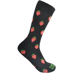 Funky Socks Mens Strawberries Crew Socks