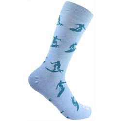 Funky Socks Mens Surfs Up Crew Socks
