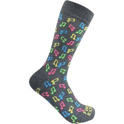 Funky Socks Mens Music Notes Crew Socks