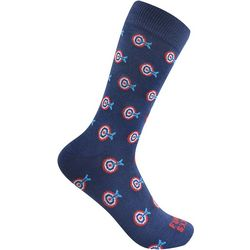 Funky Socks Mens Bullseye Crew Socks