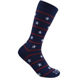 Funky Socks Mens Classic Americana Crew Socks