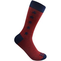Funky Socks Mens Stars & Stripe Crew Socks