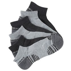 Skechers Mens 6-pk. Sport Quarter Crew Socks