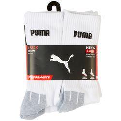 Puma Mens 6-Pk Performance Terry Crew Socks