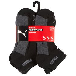 Puma Mens 6-Pk. Performance Terry Low Cut Socks