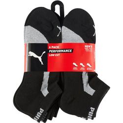 Mens 6-Pk Bicolor Terry Low Cut Socks