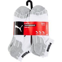 Puma Mens 6-Pk Performance Terry Low Cut Socks