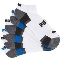 Puma Mens 6-pk. Block Logo Low Cut Socks
