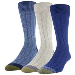 Gold Toe Mens 3-Pk. Nantucket Crew Socks