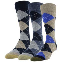 Gold Toe Mens 3-pk. Argyle Crew Socks