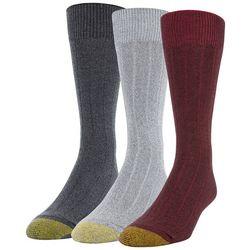 Gold Toe Mens 3-pk Nantucket Crew Socks