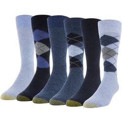 Mens 6-pk. Argyle Crew Socks