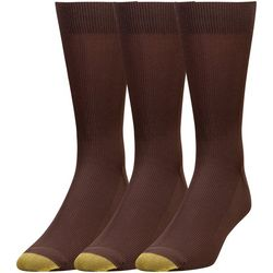 Gold Toe Mens 3-pk. Metro Crew Socks