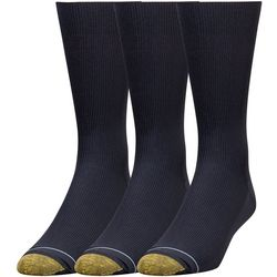 Gold Toe Mens 3-pk. Metro Crew Socks