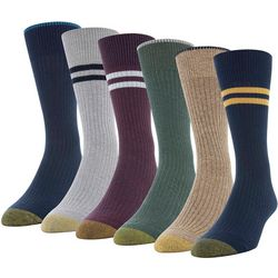 Gold Toe Mens 6-pk. Stripe Stanton Crew Socks