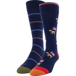 Gold Toe Mens 2-pk. Patriotic Dog & Stripe Crew Socks