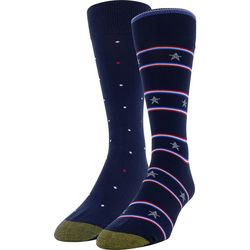 Gold Toe Mens 2-pk. Stars & Stripe Crew Socks