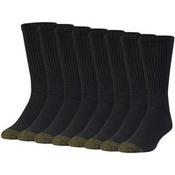 Gold Toe Mens Crew 6+2 Bonus Pack Socks