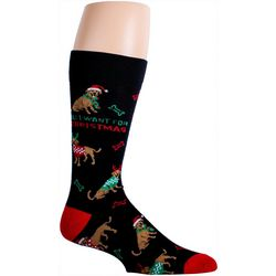 Mens All I Want For Christmas Crew Socks