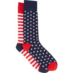 Davco Mens Stars & Stripes Crew Socks