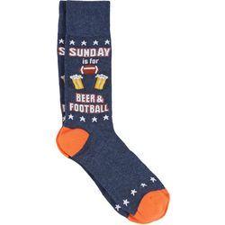 Davco Mens Sunday Beer & Football Crew Socks