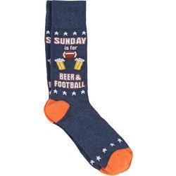 Mens Sunday Beer & Football Crew Socks