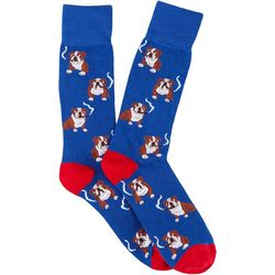 Davco Mens Bulldog Cigar Crew Socks