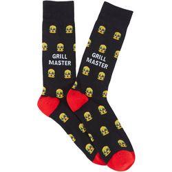 Davco Mens Grill Master Burger Crew Socks