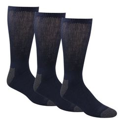 Mens 3-pk. Non-Binding Cushioned Crew Socks