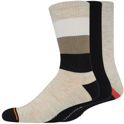 Dockers Mens 3-pk. Heathered Stripe & Solid Crew Socks