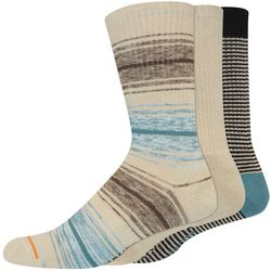 Dockers Mens 3-pk. Heathered Multi Stripe & Solid Crew Socks