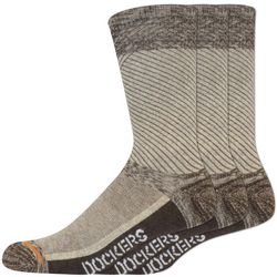 Dockers Mens 3-pk. Temperature Heathered Crew Socks