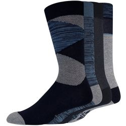 Dockers Mens 3-pk. Heathered Triangle Stripe Crew Socks