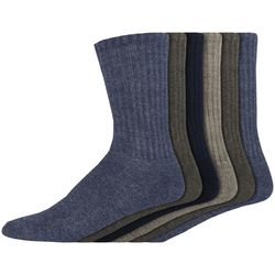 Dockers Mens 6-pk. Heathered Sport Crew Socks
