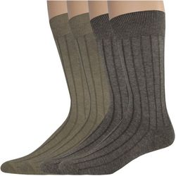 Dockers Mens 4-pk. Wide Rib Crew Socks