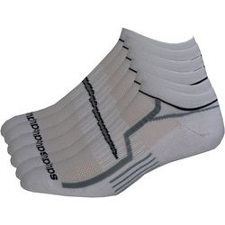 Saucony Mens 6-pk. White No-Show Performance Socks