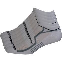 Mens 6-pk. White No-Show Performance Socks