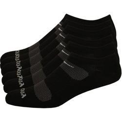 Mens 6-pk. Comfort Fit No-Show Black Socks