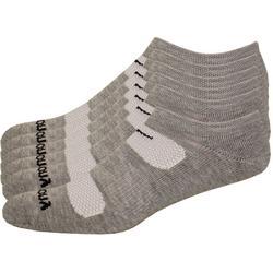 Mens 6-pk. Comfort Fit No-Show Grey Socks