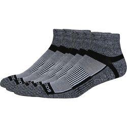 Saucony Mens 3-pk. Pro Inferno Grey Quarter Socks